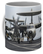 An E-2c Hawkeye Aircraft On The Flight Coffee Mug