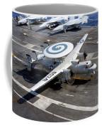 An E-2c Hawkeye Lands On The Flight Coffee Mug by Stocktrek Images