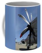 An E-2c Hawkeye Sits On The Flight Line Coffee Mug