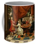 An Elegant Family Taking Tea  Coffee Mug by Gavin Hamilton