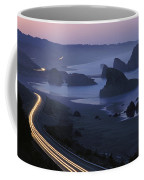 An Evening View Of Highway 101 South Coffee Mug