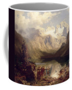 An Extensive Alpine Lake Landscape Coffee Mug