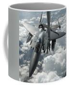 An F-15 E Strike Eagle Receives Fuel Coffee Mug by Stocktrek Images