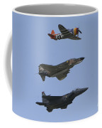 An F-15 Eagle, P-47 Thunderbolt Coffee Mug