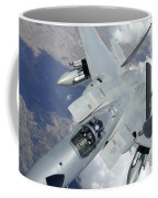 An F-15 Eagle Pulls Away From A Kc-135 Coffee Mug by Stocktrek Images