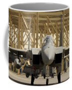 An F-15 Eagle Taxis Prior To A Training Coffee Mug