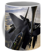 An F-15e Strike Eagle Aircraft Receives Coffee Mug by Stocktrek Images