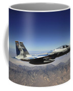 An F-15e Strike Eagle From The 65th Coffee Mug