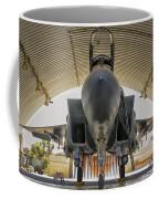 An F-15i Raam Parked In The Hangar Coffee Mug