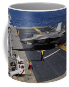 An F-35b Lightning II Makes A Vertical Coffee Mug