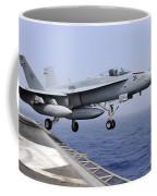 An Fa-18c Hornet Catapults Coffee Mug