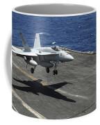 An Fa-18c Hornet Lands Aboard Coffee Mug