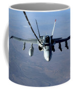 An Fa-18c Hornet Receives Fuel Coffee Mug by Stocktrek Images