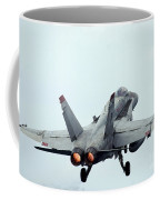 An Fa-18c Hornet Taking Off Coffee Mug