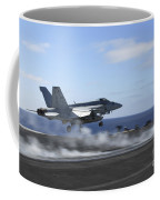 An Fa-18e Super Hornet Catapults Coffee Mug