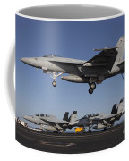 An Fa-18e Super Hornet Comes In For An Coffee Mug
