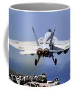 An Fa-18e Super Hornet Takes Coffee Mug