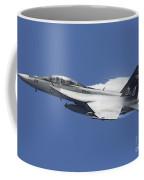 An Fa-18f Super Hornet In Flight Coffee Mug