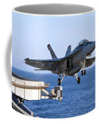 An Fa-18f Super Hornet Takes Coffee Mug