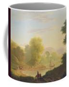 An Imaginary Coast Scene - With The Temple Of Venus At Baiae Coffee Mug