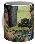 An Infantry Unit Of The Belgian Army Coffee Mug by Luc De Jaeger