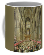 An Interior View Of Westminster Abbey On The Commemoration Of Handel's Centenary Coffee Mug