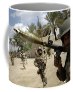 An Iraqi Army Soldier Provides Security Coffee Mug by Stocktrek Images