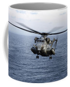 An Mh-53e Sea Dragon In Flight Coffee Mug