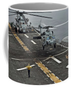 An Mh-60s Sea Hawk Lands Aboard Coffee Mug
