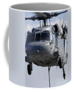 An Mh-60s Seahawk Delivers A Pallet Coffee Mug