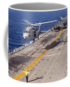 An Mh-60s Seahawk Helicopter Prepares Coffee Mug