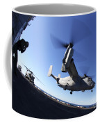 An Mv-22 Osprey Lands Aboard The Uss Coffee Mug
