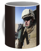 An Officer Relays Commands Coffee Mug