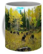 An Old Clear Cut In Autumn  Coffee Mug