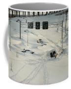 An Overhead View Of Buried Cars On An Coffee Mug by Ira Block