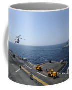 An Sa330j Puma Helicopter Conducts Coffee Mug