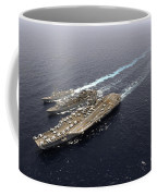 An Underway Replenishment With Ships Coffee Mug