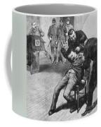 Anarchist Being Held Down For Mug Shot Coffee Mug