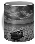 Anchored Row Boat Looking Out To Sea Coffee Mug
