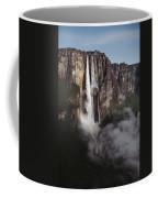 Angel Falls, With Plane For Scale Coffee Mug
