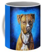 American Staffordshire Terrier Dog Painting Coffee Mug