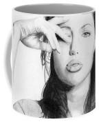 Angelina Jolie Pencil Art Coffee Mug