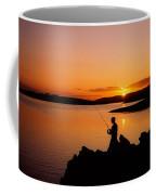 Angler At Sunset, Roaring Water Bay, Co Coffee Mug