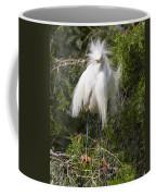 Angry Bird Snowy Egret In Breediing Plumage Coffee Mug