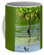 Anhinga Stabs A Fish Coffee Mug
