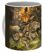 Animals United In Terror As They Flee From A Forest Fire Coffee Mug