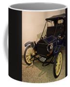Antique Automobile With Yellow Spoke Wheels Coffee Mug