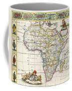 Antique Map Of Africa Coffee Mug by Dutch School