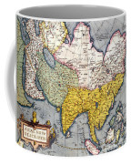 Antique Map Of Asia Coffee Mug