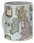 Antique Map Of Britain Coffee Mug by English School